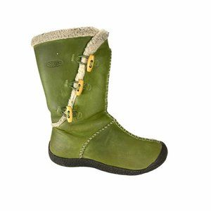 Keen Kaley Leather Boots Shearling Lined Women's 7